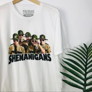 UO Super Troopers Shenanigans White Graphic Tee